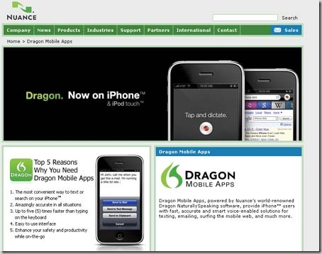 dragon iPhone app