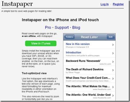 instapaper Iphone