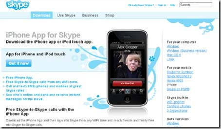 skype iPhone app
