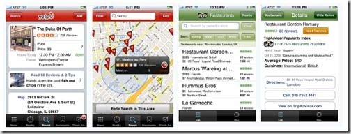 Yelp TripAdvisor iPhone