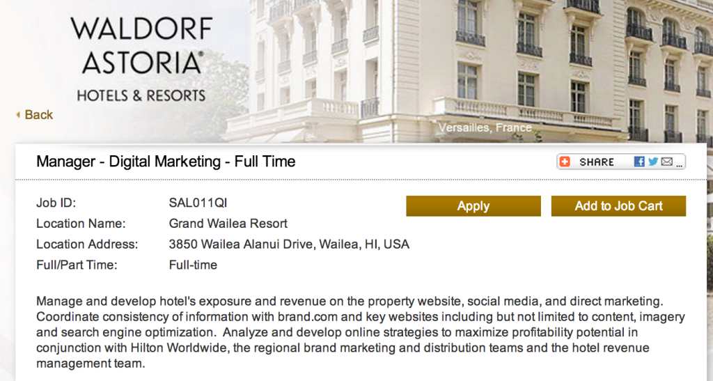 grand wailea manager digital marketing