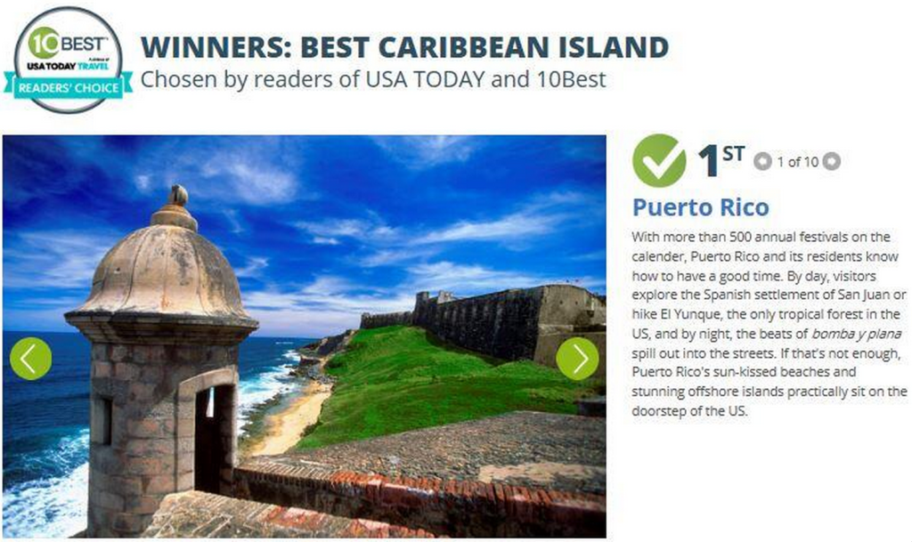 Puerto Rico Best Caribbean Island