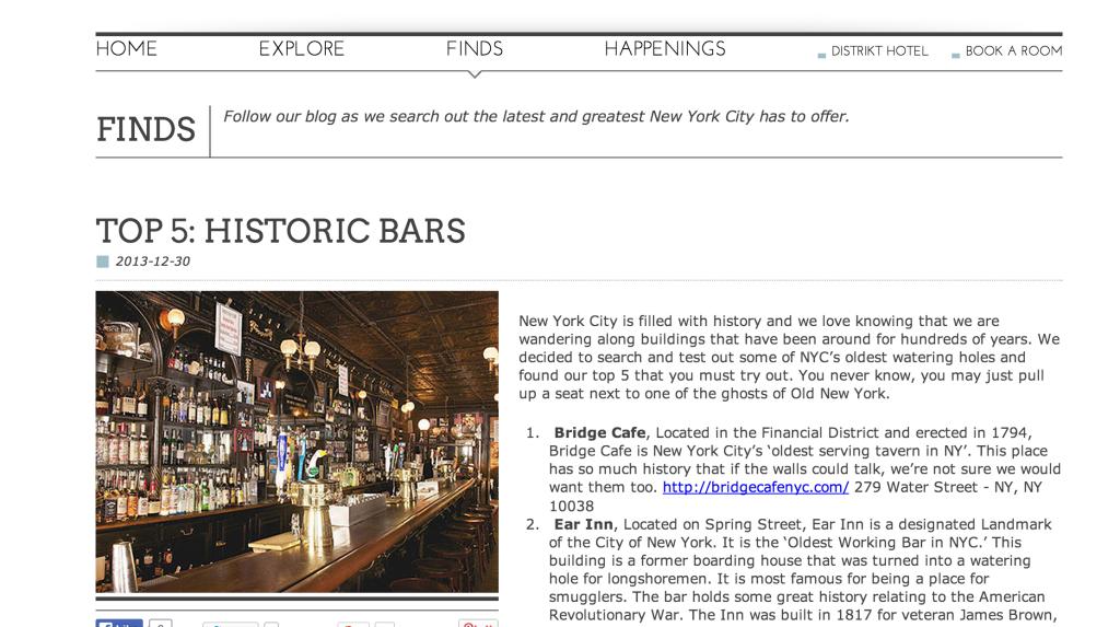 distrikt hotel blog